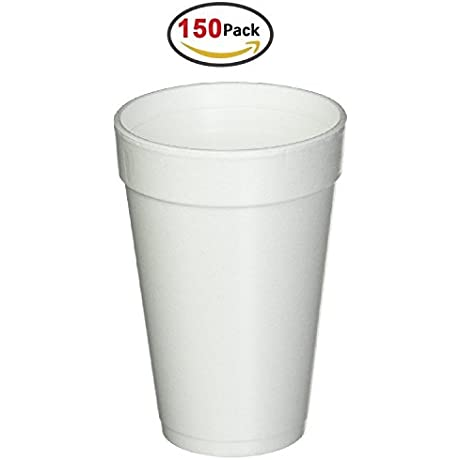 16 Oz White Disposable Drink Foam Cups Hot And Cold Coffee Cup Pack Of 150