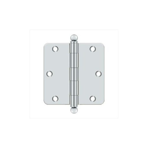 Deltana S35R426-BT Steel 3 1//2-Inch x 3 1//2-Inch x 1//4-Inch Radius Hinge with Ball Tips Top Notch Distributors Inc. Home Improvement