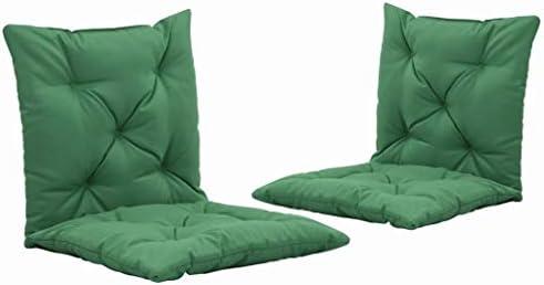 UnfadeMemory 2 STK. Schaukelstuhl Auflagen Gartenstuhlauflage Polsterauflage Hollywoodschaukel Sitzpolster Rückenkissen und Sitzkissen 50 x 98 cm Dicke 6 cm (Grün)