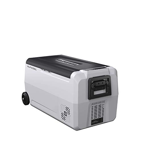 Alpicool Dual Temperature Control T36 Portable Refrigerator 38 Quart(36 Liter) Compact Fridge Mini Freezer for Travel,Camping,Fishing, Outdoor -12/24V DC