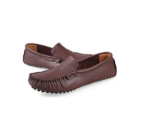 zmlsc Hommes Casual Chaussures Pois Chaussures Printemps Et Été Automne Et Hiver Refroidir Ceinture Femmes Marchands De Bovins Brown ffTxbzEE2a