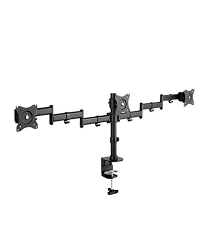 Triple Clamp on Monitor Mount Fully Adjustable Fits Three Screens up to 27