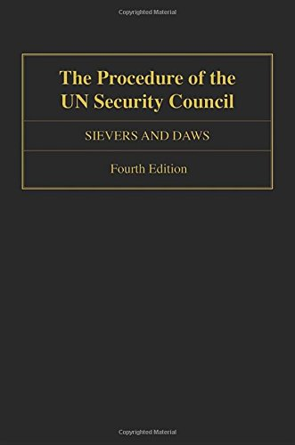 The Procedure of the UN Security Council