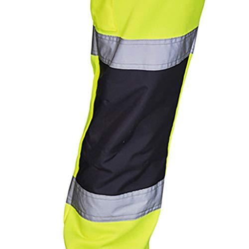 Des Route De Salopette Décontracté Visibilité Haute Pantalon Poche Hommes Ihaza Vert Travail EtqwxZz0