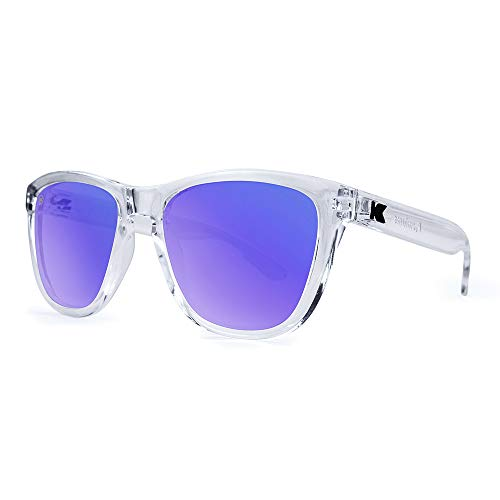 Knockaround Premiums Polarized Sunglasses With Clear Frames/Blue Reflective Lenses