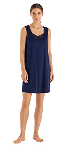 HANRO Women's Malene Tank Gown, Pure Navy, X-Large ()