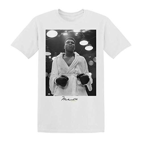 Muhammad Ali Step Into The Ring T-Shirt White (XX-Large) (Best Hbo Documentaries Of All Time)