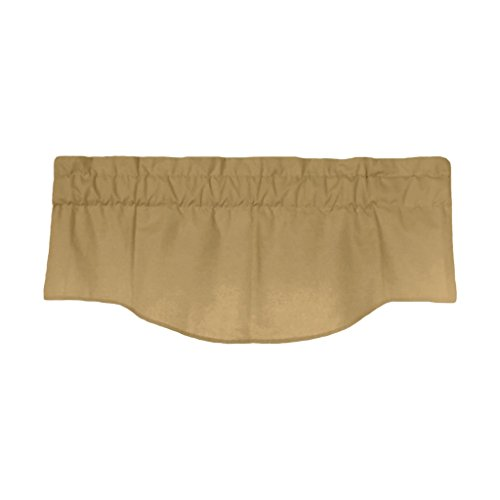 - Medallion Valance in Latte - Fully Lined with 3 inch rod pocket