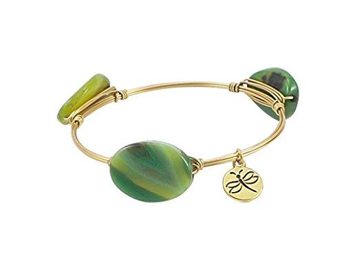 Crystal Bangle Agate Green Stones