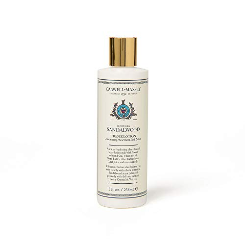 Caswell-Massey Centuries Sandalwood Creme Body Lotion - Plant-Based Body Moisturizer With A Natural Sandalwood Scent, 8 oz ()