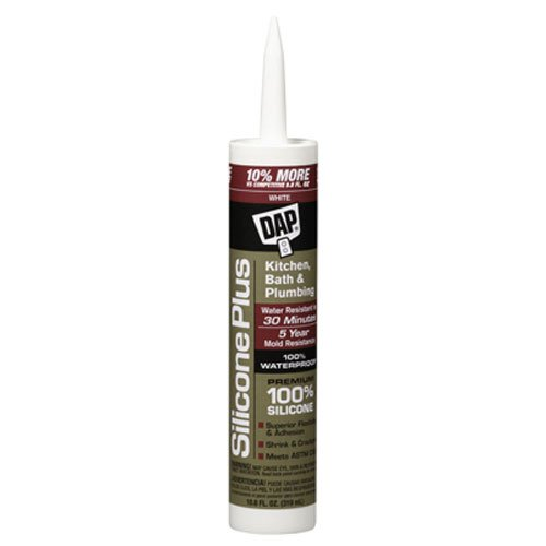 - Dap 08770 Silicon Plus Premium Silicone Rubber Sealant White 10.8-Ounce