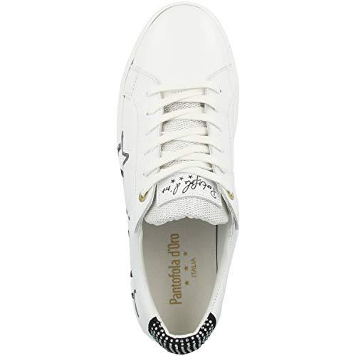 Ginnastica Pantofola Napoli 1fg Bianco Donne Low Basse bright Da D'oro White Stelle Scarpe Donna q40rpwq