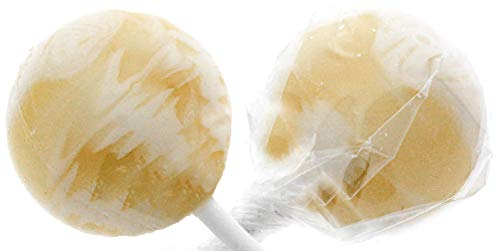 Pina Colada Gourmet Lollipops - 30 Count White Suckers - Individually Wrapped - Includes