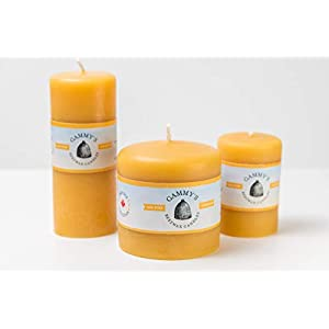 """Gut Health Shop 31hTYiYujoL._SS300_ Smooth Brothers Beeswax Pillars Set of Three (3) - 2x3"""", 2x5"""" and 3x3"""" - 100% Pure Beeswax by Gammy's Beezwax Candles"""