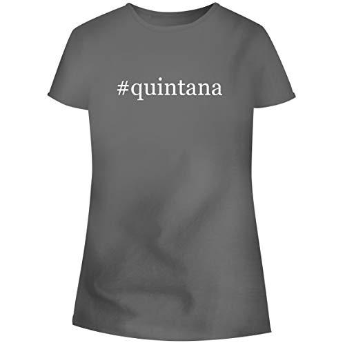 One Legging it Around #Quintana - Hashtag Women's Soft Junior Cut Adult Tee T-Shirt, Grey, XX-Large