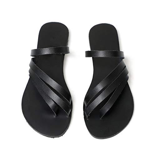 Toe Piatti Basso Comfort Sandalo Mid Scarpe Basse Dresslksnf Nero Beach Donna Tacco Elegant Roman Shoe Sandali Party Estivi Open Sera XwBvqO8xR
