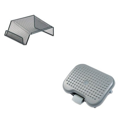 KITRCP4653ROL22151 - Value Kit - Rolodex Mesh Telephone Desk Stand (ROL22151) and Rubbermaid Height-Adjusting Tilting Footrest (RCP4653)