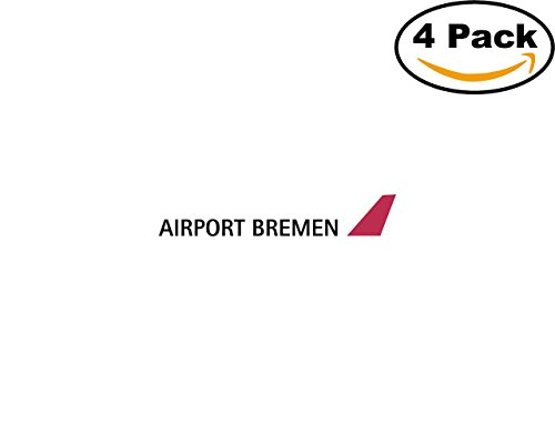 Bremen Port - Airport Bremen 4 Stickers 4X4 inches Car Bumper Window Sticker Decal