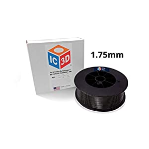 IC3D Black 1.75mm PETG 3D Printer Filament - 2.5kg Spool - Dimensional Accuracy +/- 0.05mm - Professional Grade 3D Printing Filament - Made in USA 11