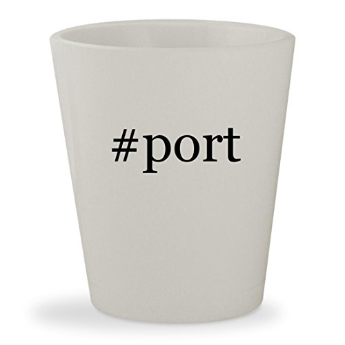 Price comparison product image #port - White Hashtag Ceramic 1.5oz Shot Glass