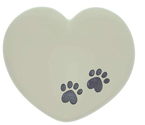 Multi Colored Paw Prints - AngelStar Pet Urn - Paw Prints - Heart Multicolored