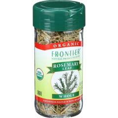 Frontier Herb - Organic Whole Rosemary Leaf (4 - .85 OZ) - Woody Scent and Minty Flavor