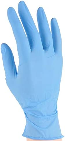 Oferta amazon: Guantes desechables de nitrilo azul, nivel de calidad aceptable de 1,5 (100 guantes), ideal para tatuadores, mecánicos o examinadores, talla M