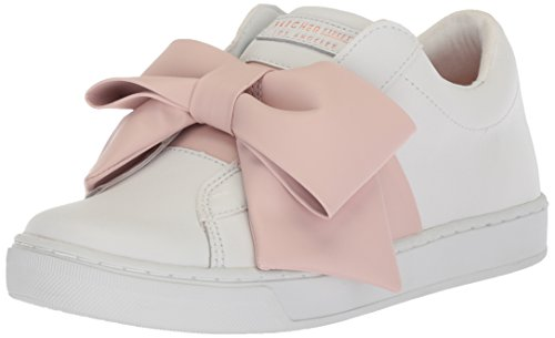 Skechers Donna Prima-bow Insted Sneaker In Pelle Bianco / Rosa