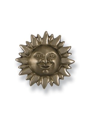 Smiling Sunface Doorbell Ringer - Nickel Silver by Michael Healy Designs