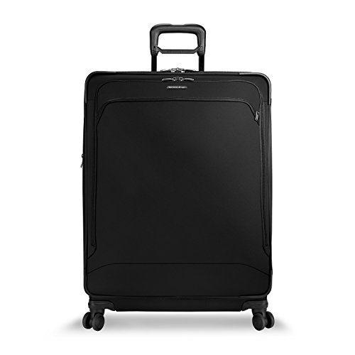 Briggs & Riley Large Expandable Spinner, Black, One (Riley Transcend Collection)