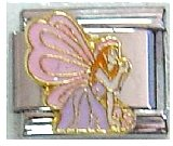 - Clearly Charming Fairy with Pink Wings Italian Charm Bracelet Link