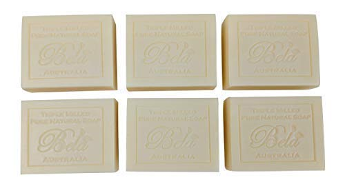 - Bela Pure Natural Soaps Triple Milled Moisturizing Soap Bars, Sulfate Free - Extra Creamy Goats Milk - Made in Australia -Perfect Mothers Day, Anniversary, or Birthday Gift -6 pack -3.5 oz each