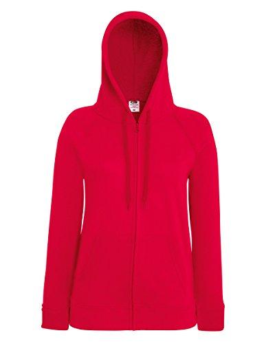Absab Ltd - Felpa con cappuccio - Donna Red Medium