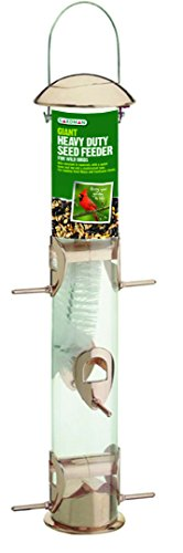 - Gardman BA01137 Giant Heavy Duty Seed Feeder, Copper Finish, 5.7