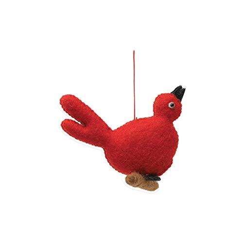 Vietri Ornaments Felt Red Bird - Festive Living Room Holiday Decoration (Christmas Vietri Ornaments)