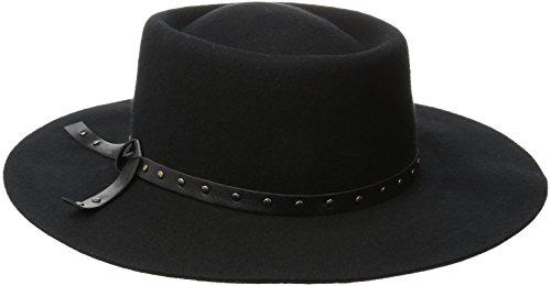 Genie by Eugenia Kim Women's Zana Felt Gambler Hat with Studded Leather Trim, Black, One Size (Felt Sombrero)