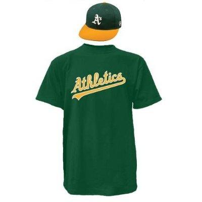 Oakland Athletics CAP & ADULT XL JERSEY MLB Licensed Replica Combo Set