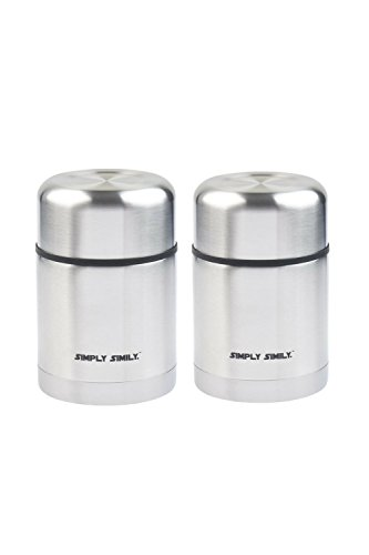 Stainless Steel Insulated Food Container Flask keeps hot or cold for hours, 18 oz (Pack of 2)