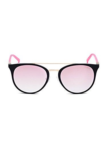 GUESS Women's Eye Candy Round Top-Bar - Guess Pink Sunglasses
