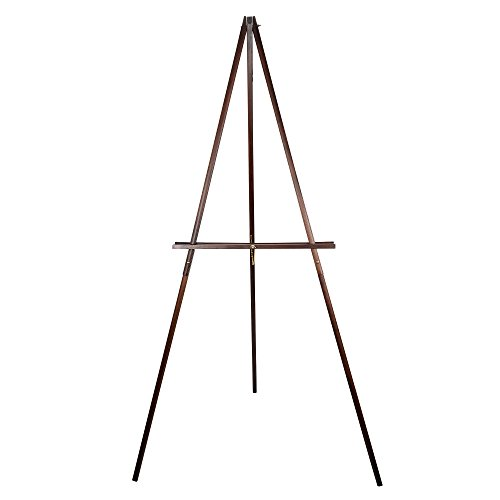 CONDA 66 Wooden Tripod Display Floor Easel & Artist Easel, Adjustable Tray Chain Pine Brown Wood