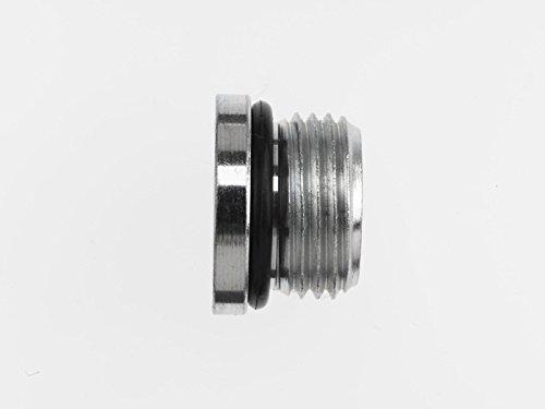 Brennan Industries 6408-H02-O Steel Hollow Hex Plug Tube Fitting, 5/16''-24 SAE ORB Thread, 1/8'' Male O-Ring Boss
