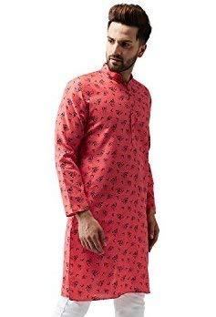 Indian-Traditional-Kurta-Pajama-Set-Shirt-Printed-Men-Kurta-Ethnic-Wear-XS-5XL thumbnail 14