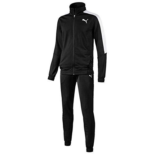- Puma Classic Tricot Mens Retro Fashion Sports Tracksuit Set Black - XL