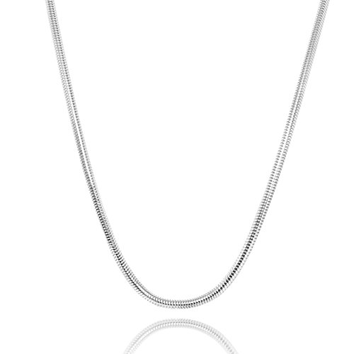 (Honolulu Jewelry Company Sterling Silver Charm Chain Necklace or Bracelet (17.5 Inches))