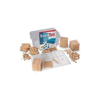 Nasco Wooden Base 10 Block Place Value Set - Math Education Program - TB12719: Industrial & Scientific