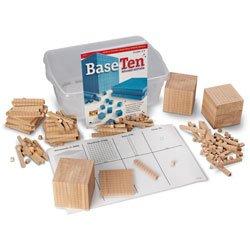 Nasco Wooden Base 10 Block Place Value Set - Math Education Program - TB12719 (Value Place Cubes)