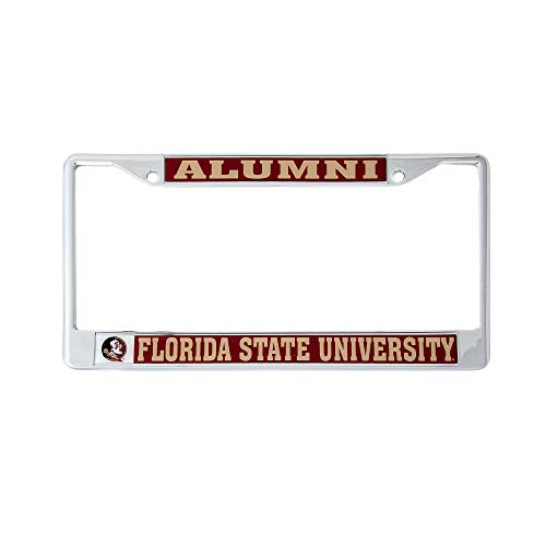 University Of Florida License Plate Frames - Desert Cactus Florida State University Alumni Metal License Plate Frame for Front Back of Car Officially Licensed FSU Seminoles (Alumni)