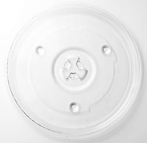 "HapWay Small 10.5""/27cm Microwave Glass Plate Replacement, Microwave Glass Turntable Tray Replaces,Compatible with Emerson P23, Hamilton Beach, Sunbeam, Magic Chef etc"