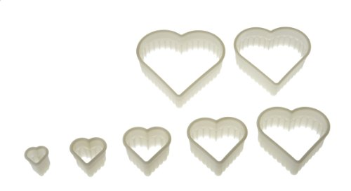 Silikomart Wonder Cakes Collection Nesting Fluted Nylon Dough Cutters, Heart, Set of (Heart Cookie Tart)