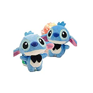 2pcs/pair Kawaii 11CM LOVERS LILO and Stitch Plush Stuffed TOY Phone Charm Strap BAG Key Chain Pendant TOY Wedding Bouquet TOY
